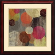 "Amanti Art ""Magenta Bubbles II"" Framed Art by Tom Reeves"