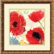 Amanti Art Poppies Painterly I Framed Art by Meringue