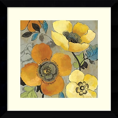 """""Amanti Art """"""""Yellow and Orange Poppies I"""""""" Framed Art by Allison Pearce"""""" 1209312"