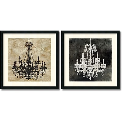 """""Amanti Art """"""""Chandelier - Set of 2"""""""" Framed Art by Oliver Jeffries"""""" 1209035"
