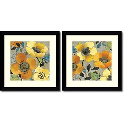 """""Amanti Art """"""""Yellow and Orange Poppies - Set of 2"""""""" Framed Art by Allison Pearce"""""" 1209024"