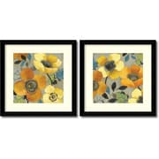 Amanti Art Yellow and Orange Poppies - Set of 2 Framed Art by Allison Pearce