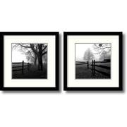 "Amanti Art ""Corner Fence in the Mist - Set of 2"" Framed Art by Harold Silverman"