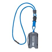 EK 10942C-C23 Dual Sided Smart Card Holder with Detachable Lanyard, Blue
