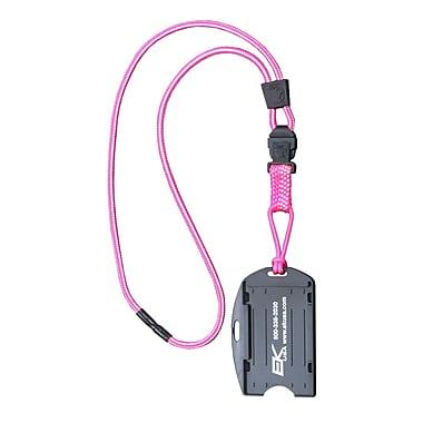EK 10942C-C103 Dual Sided Smart Card Holder with Detachable Lanyard, Pink