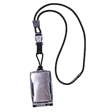 EK 10983C One Hander Card Holder with Detachable Lanyard