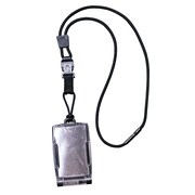 EK 10983C-C20 One Hander Card Holder with Detachable Lanyard, Black