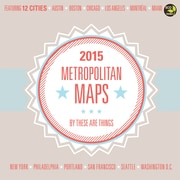TF Publishing Metropolitan Maps 2015 Wall Calendar