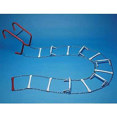 ResQLadder 35 ft Steel Escape Ladder; Without Sleeves