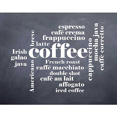 Evive Designs Coffee by Susan Newberry Textual Art
