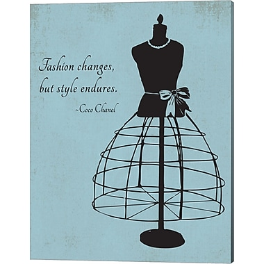 Evive Designs 'Fashion Changes' by Susan Newberry Painting Print on Canvas in Blue