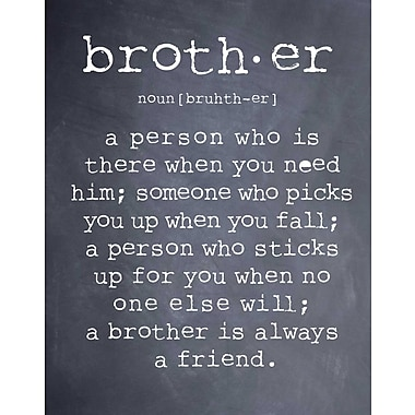Evive Designs Brother by Susan Newberry Textual Art