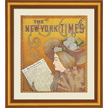 Evive Designs Vintage NY Times Ad by Julia Kearney Framed Graphic Art