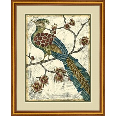 Evive Designs Embroidered Pheasant II by Chariklia Zarris Framed Painting Print