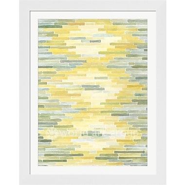 Evive Designs 'Green & Yellow Reflection II' by Megan Meagher Framed Painting Print