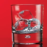 Home Essentials and Beyond Red Series 10 oz. Bubble Double Old Fashioned Glass (Set of 4)