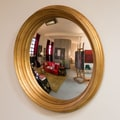 Reflecting Design Corinth 33'' Convex Wall Mirror; Antique Gold