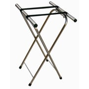 AARCO Chrome Folding Luggage Stand; Tray
