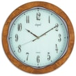 Opal Luxury Time Products 13'' Classy Wooden Round Wall Clock