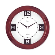 Opal Luxury Time Products 12'' Round Wooden Case Wall Clock