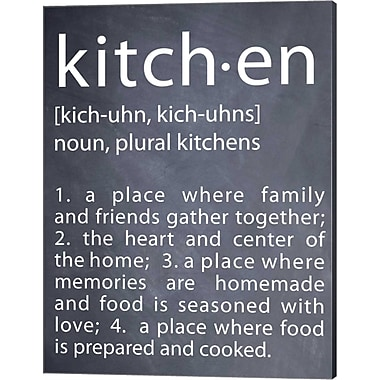 Evive Designs Kitchen by Susan Newberry Textual Art on Canvas