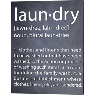Evive Designs Laundry by Susan Newberry Textual Art on Canvas