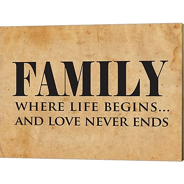 Evive Designs 'Family' by Susan Newberry Textual Art on Canvas