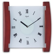 Opal Luxury Time Products Wood and Frosted Glass Wall Clock