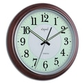 Opal Luxury Time Products 15'' Luminous Dial Dark Wood Wall Clock