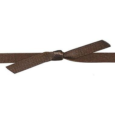 Shamrock Satin Stretch Loop Ribbon, Brown, 10