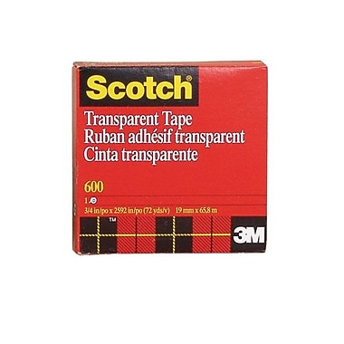Shamrock Scotch Tape, Transparent, #600, 3/4X72 yard