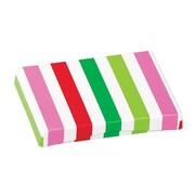Shamrock Presentation Pop-Up Gift Card Boxes, Santa Stripe Cheetah, White Interior, 50/case