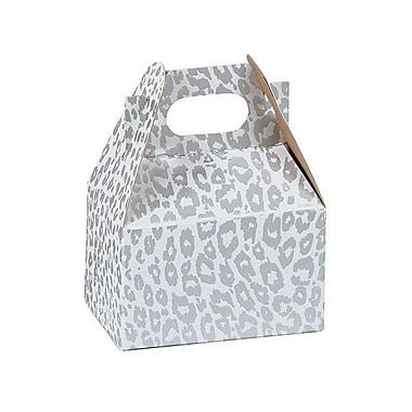 Shamrock Gable Box, Mini, Silver Cheetah
