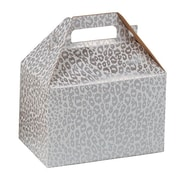 Shamrock Gable Box, Silver Cheetah, 8""