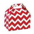 Shamrock Gable Box, Red Chevron, 8""