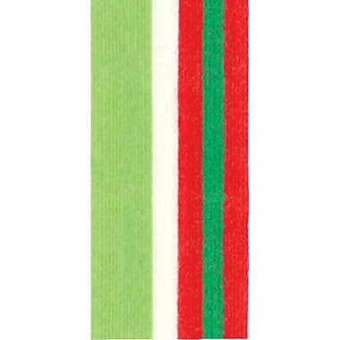 Shamrock Cotton Curl Ribbon, Stripe, Christmas, 1/2