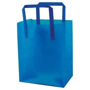 "Shamrock Plastic 10""H x 8""W x 5""D High Density Shopping Bags, Blue, 250/Pack"