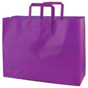 Shamrock Colored Shopping Bag, Grape, Tri-fold Handle with Cardboard Bottom, 16X6X12X6