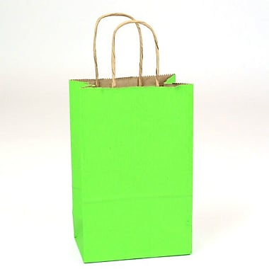 Shamrock Natural Tints with Shadow Stripe Paper Shopper, Toucan, Apple Green