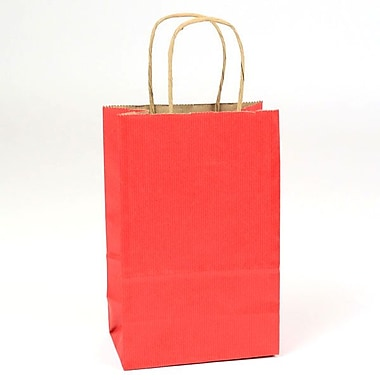 Shamrock Natural Tints with Shadow Stripe Paper Shopper, Toucan, Really Red