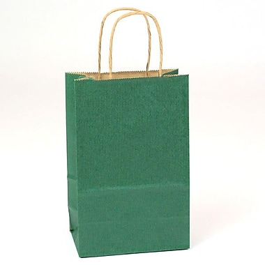 Shamrock Natural Tints with Shadow Stripe Paper Shopper, Toucan, Forest Green