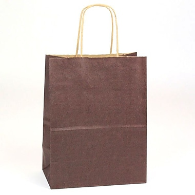 Shamrock Natural Tints with Shadow Stripe Paper Shopper, Chimp, Chocolate Brown