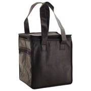 Shamrock Non-Woven Thermo Lunch Tote, Black, 8X6X8.5