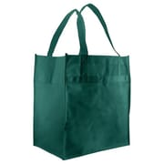 Shamrock Non-Woven 13W x 12L Econo Grocery Tote, Green, 100/Pack
