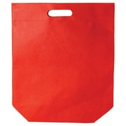 Shamrock Non-Woven Die-Cut Tote, Red, 15X18