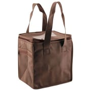 Shamrock Non-Woven Thermo Lunch Tote, Chocolate, 8X6X8.5