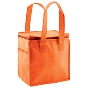 Shamrock Non-Woven Thermo Lunch Tote, Orange, 8X6X8.5