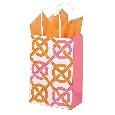 Shamrock 100% Recycled White Kraft Paper Shopper