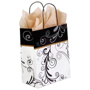 Shamrock Printed Paper Shopper, Elegant Flourish, Chimp