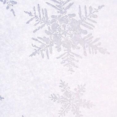 Shamrock Stock Printed Tissue, Pearl/Silver Snowflake